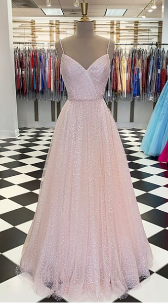 2020 Sparkly Prom Dresses , Long Prom Dress ,Fashion School Dance Dress Formal Dress PDP0701