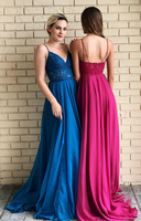 Prom Dresses with Applique , Long Prom Dress ,Future Wedding Formal Dress PDP0711