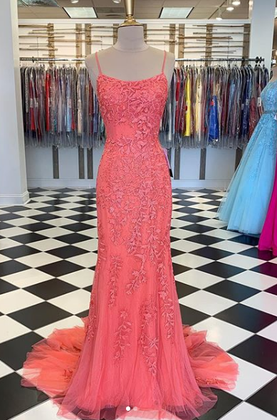 2021 Long Prom Dress With Applique and Beading,Fashion School Dance Dress Sweet 16 Quinceanera Dress PDP0740
