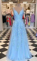 2021 Long Prom Dress With Applique and Beading,Fashion School Dance Dress Sweet 16 Quinceanera Dress PDP0741
