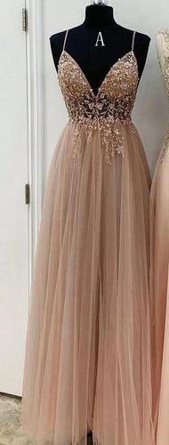 2021 A-line Long Prom Dress with Beading, School Dance Dresses ,Fashion Winter Formal Dress PPS001