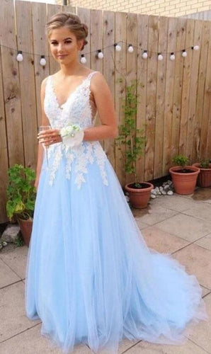 2021 Tulle Long Prom Dress with Appliques, School Dance Dresses ,Fashion Winter Formal Dress PPS015