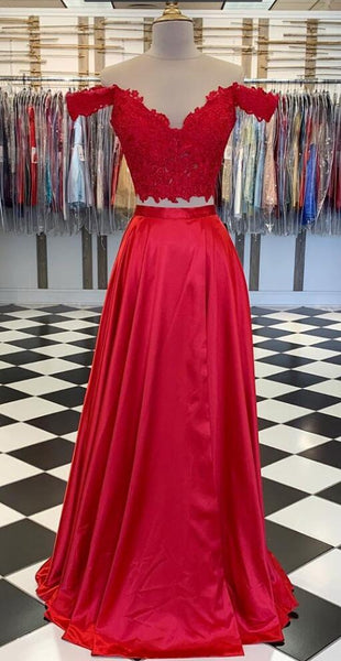 Two Pieces Long Prom Dress ,School Dance Dresses ,Fashion Winter Formal Dress PPS121