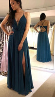 Sexy Long Prom Dress With Slit,Fashion Winter Formal Dress PDP0152