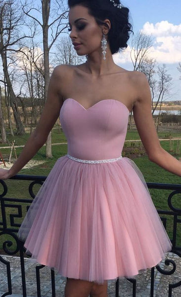 2020 Strapless Homecoming Dress ,Grad Dresses Short , Popular Short Prom Dress ,Fashion Dancel Dress PDH0070