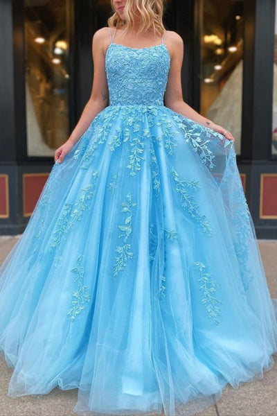 2021 Long Prom Dress With Applique and Beading,Fashion School Dance Dress Sweet 16 Quinceanera Dress PDP0739