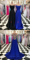 Simple Long Prom Dress With Lace up Back,Fashion Winter Formal Dress PDP0165