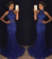Mermaid Long Prom Dress with Full Beading,Fashion Dance Dress,Sweet 16 Dress PDP0247