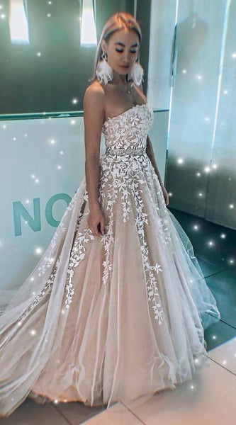 2020 Long Prom Dresses with Applique and Beading 8th Graduation Dress School Dance Winter Formal Dress PDP0494