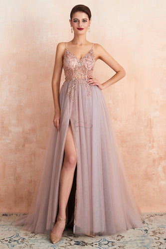 2020 Long Prom Dresses with Beading 8th Graduation Dress School Dance Winter Formal Dress PDP0493