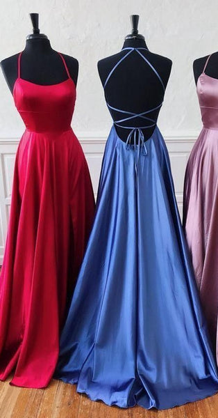 Simple Long Prom Dress With Lace up Back,Fashion Winter Formal Dress PDP0167