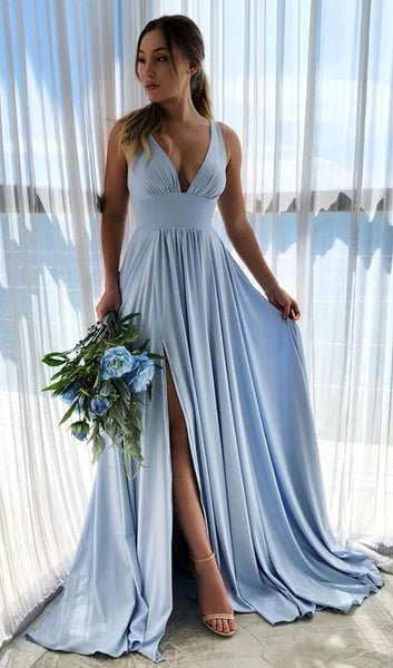 Simple Prom Dress Long Prom Dresses 8th Graduation Dress Formal Dress PDP0581