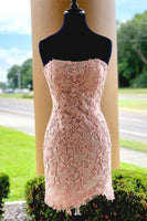 2020 Short Homecoming Dress with Applique and Beading , Popular Short Prom Dress  PDH0041