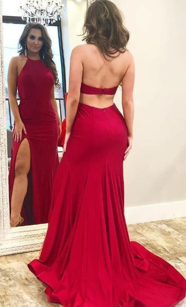 Open Back Mermaid Long Prom Dress, Popular Dance Dress ,Fashion Wedding Party Dress PDP0050