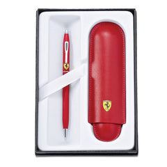 Ferrari Cross Ballpoint Pen and Pouch Gift Set