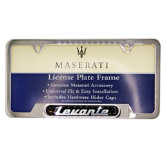 Polished Levante License Plate Frame