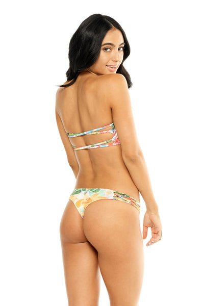 Braided Thong Bottom - Lotus
