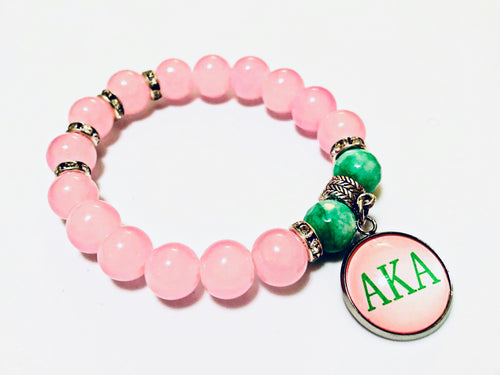 Single AKA Themed Bracelet with one charm