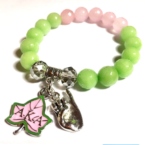 AKA Themed Bracelet - Lime