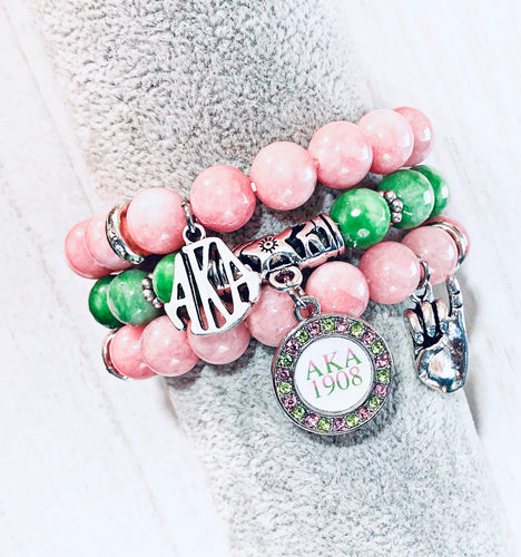 AKA Themed Bracelet Set