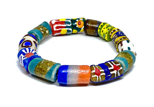African Glass Beaded Bracelet