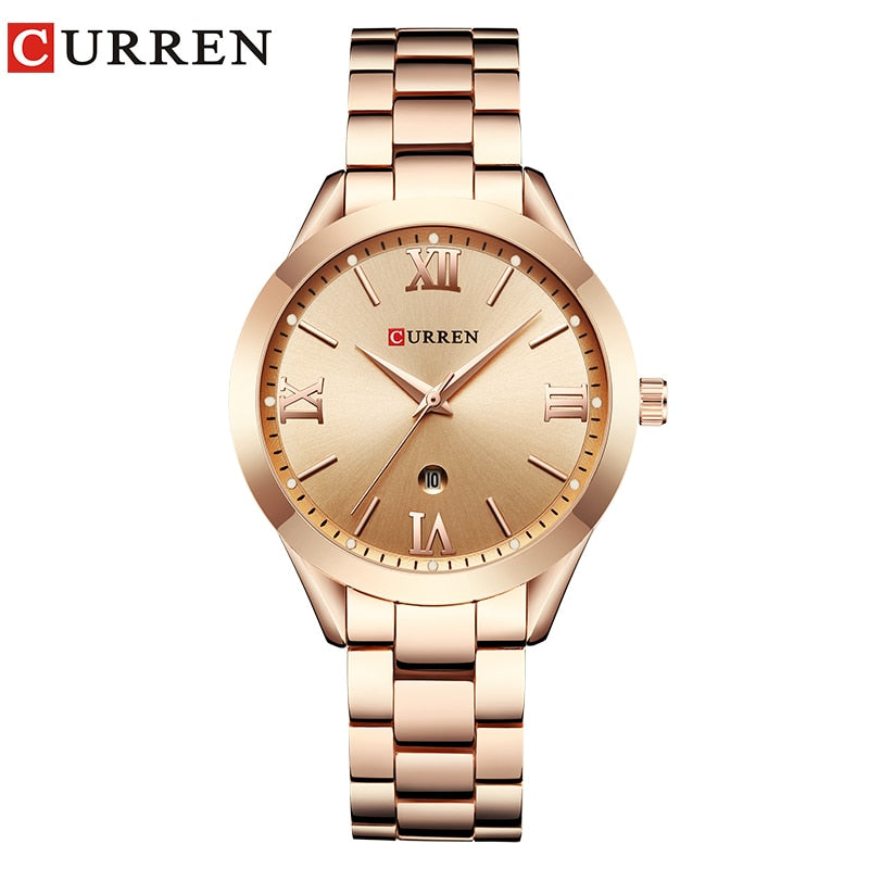 CURREN 9007 Gold Watch Ladies.