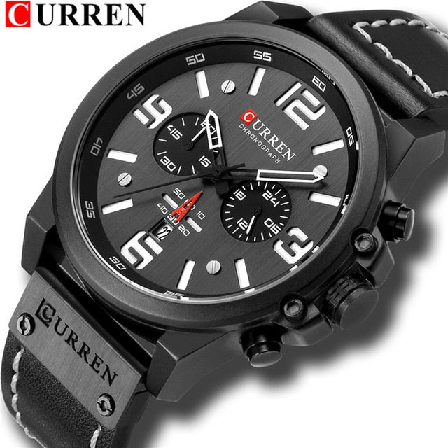 CURREN Mens Watches Chronograph Military.