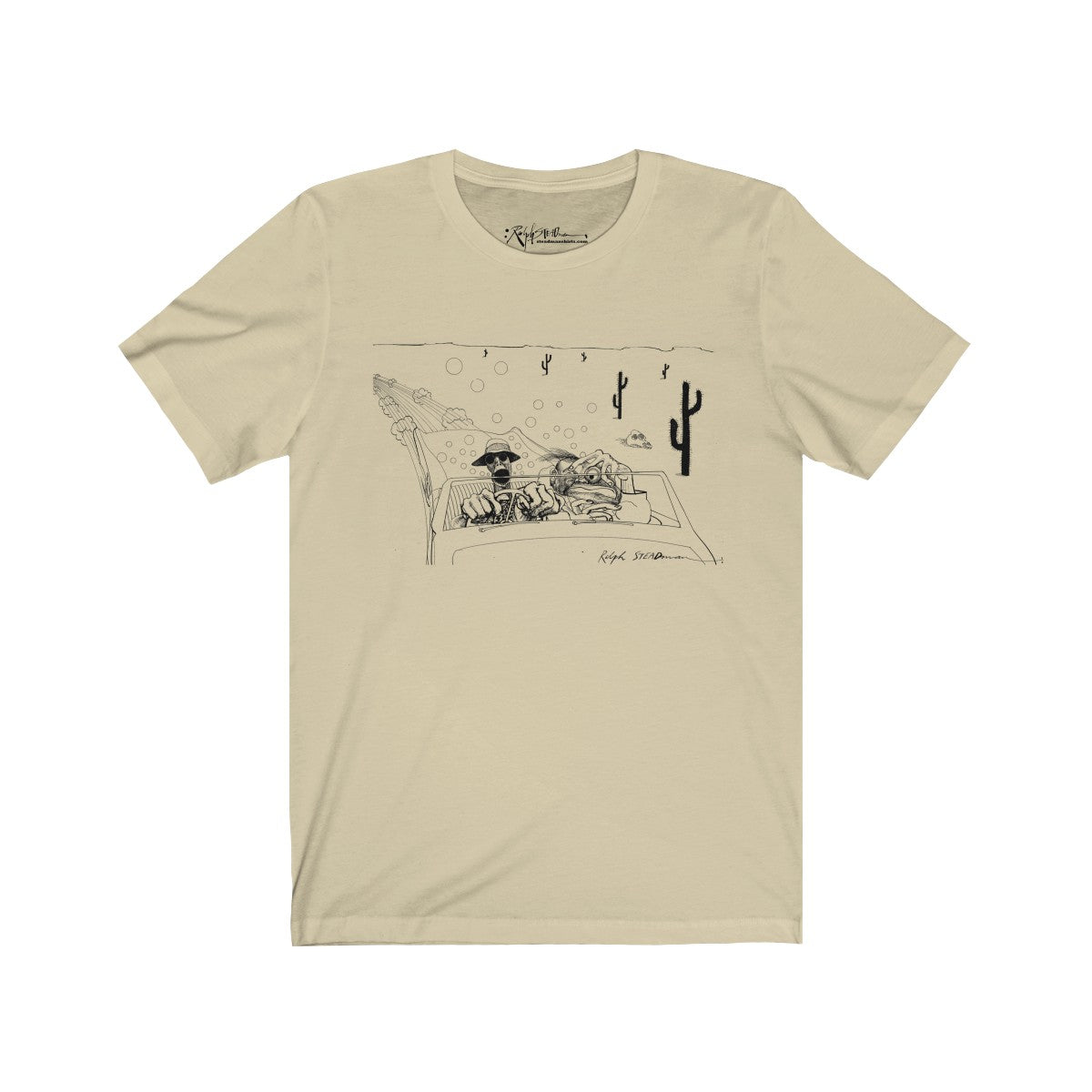 Fear and Loathing Ralph Steadman T-Shirt Cream