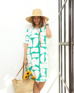 Green Gemstone Mom Dress
