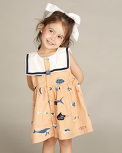 Load image into Gallery viewer, Fish Chart Sailor Dress