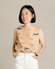 Load image into Gallery viewer, Fish Chart Mom Blouse