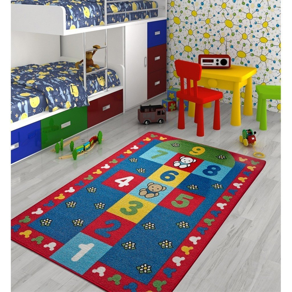 Antdecor Kids Rugs Jump Design Antislip Antialergetic Game Carpets for Kids ( 53