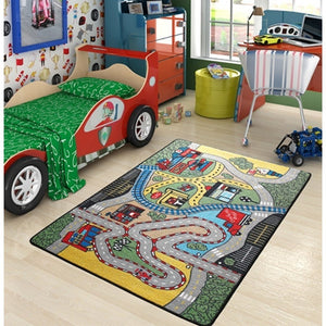"Rugs for kids Race Theme by Antdecor  4'x 6' 52""x 75"" 133x190 cm - Rattanglobal"