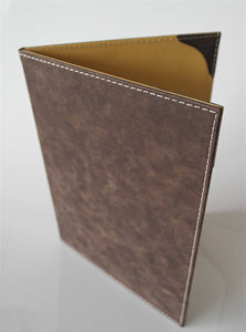 A4 Menu Covers ( 10 Pcs. ) for  Hardcover Suede Design Available in 11 colors - Rattanglobal