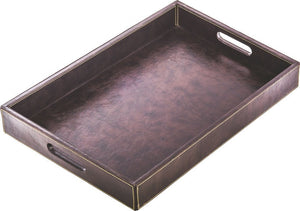 "Leather Tray Hotel Guestroom Equipments 20"" X 13"" X  2,7"" - Rattanglobal"