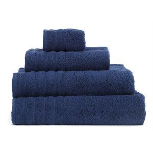 "Hand Towel Series Dark Blue  %100 Cotton 12""x20"" (30x50 cm) - Rattanglobal"