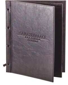 "Menu Covers with logo Made In Italian Faux Leather (12-Pack) - 8.5"" X 11"" - 4 Views - Rattanglobal"