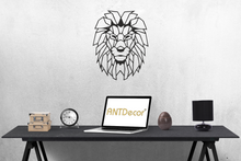"Load image into Gallery viewer, Antdecor Lion Head Metal Wall Art, World Map and World Themed Wall Decor 96x60cm 38"" X 27"""