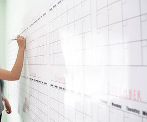 "Dry Erase Large Wall Calendar Strong Material 32"" High x 75"" Laminated + Free Gitfs No Months Listed - Rattanglobal"