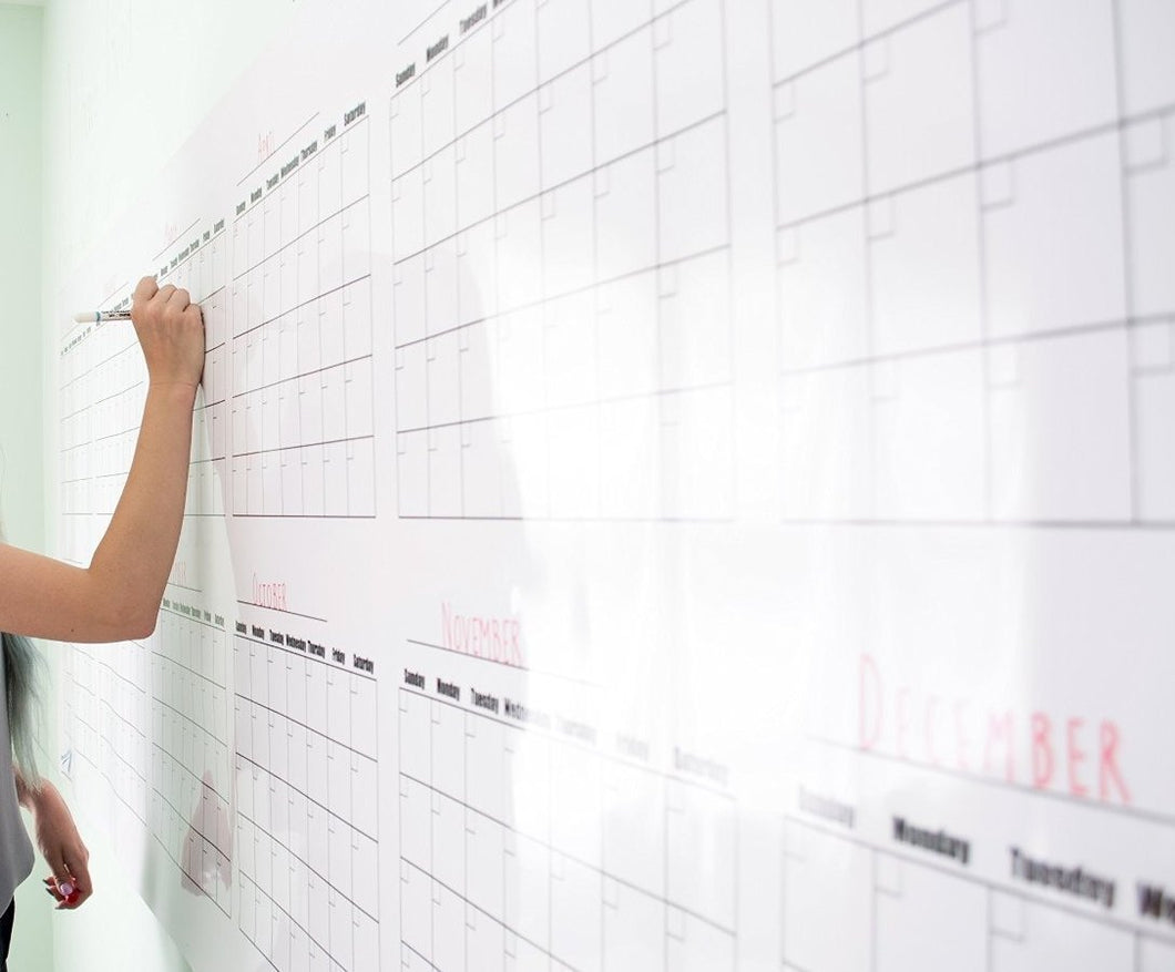Dry Erase Large Wall Calendar Strong Material 32
