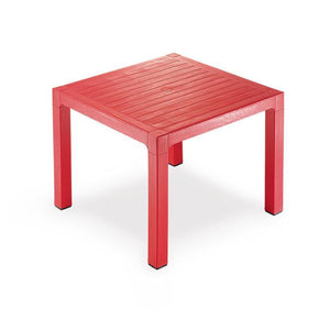 "Novussi Classi 90 Rattan Red Table Outdoor Garden Furnitures Collections 35""x35"" ( 90x90cm) - Rattanglobal"