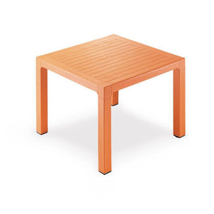 "Novussi Classi 90 Rattan Orange Table Outdoor Garden Furnitures Collections 35""x35"" ( 90x90cm) - Rattanglobal"