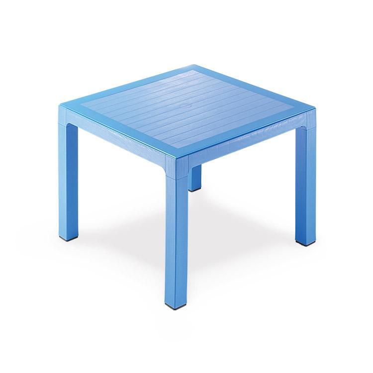 Novussi Classi 90 Rattan Blue Table Tempered Glass Outdoor Garden Furnitures Collections 35