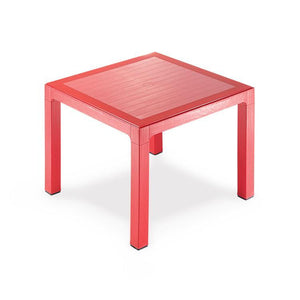 "Novussi Classi 90 Rattan Red Table Tempered Glass Outdoor Garden Furnitures Collections 35""x35"" ( 90x90cm) - Rattanglobal"