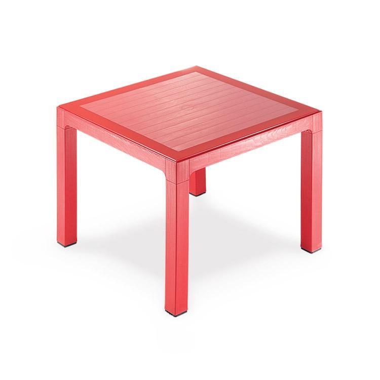 Novussi Classi 90 Rattan Red Table Tempered Glass Outdoor Garden Furnitures Collections 35