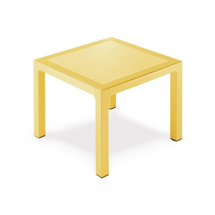 Novussi Classi 90 Rattan Yellow Table Tempered Glass Outdoor Garden Furnitures Collections 35