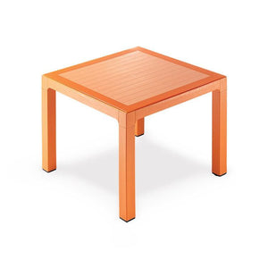"Novussi Classi 90 Rattan Orange Table Tempered Glass Outdoor Garden Furnitures Collections 35""x35"" ( 90x90cm) - Rattanglobal"