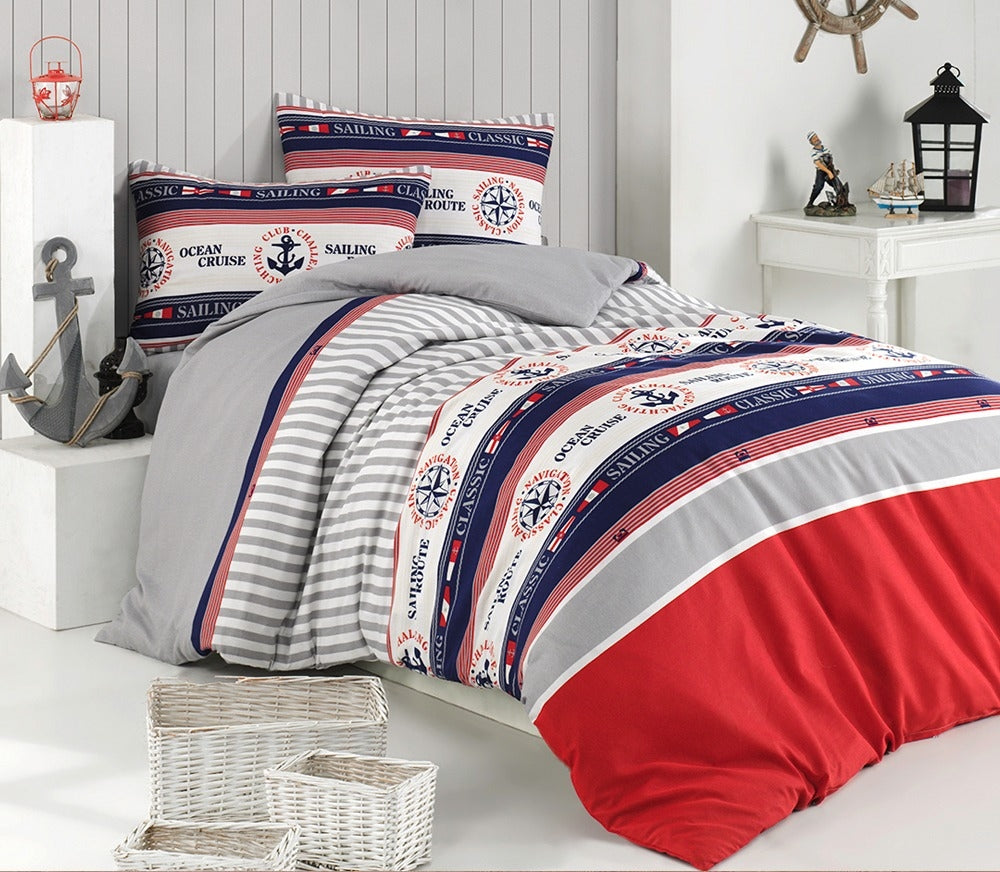 House of Hampton Marine Reversible Duvet Set Queen (78