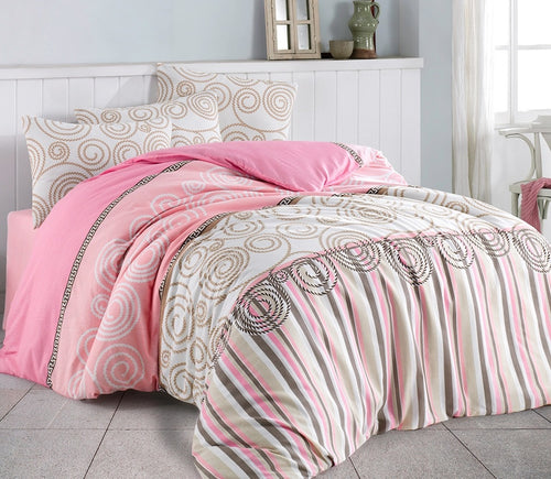 House of Hampton Anemos Powder Reversible Duvet Set Queen (78
