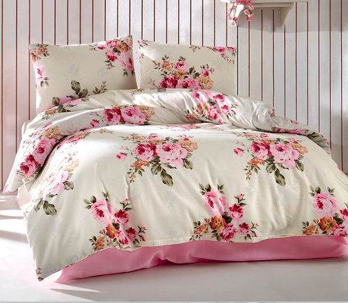 House of Hampton Rose Powder Reversible Duvet Set Queen (78